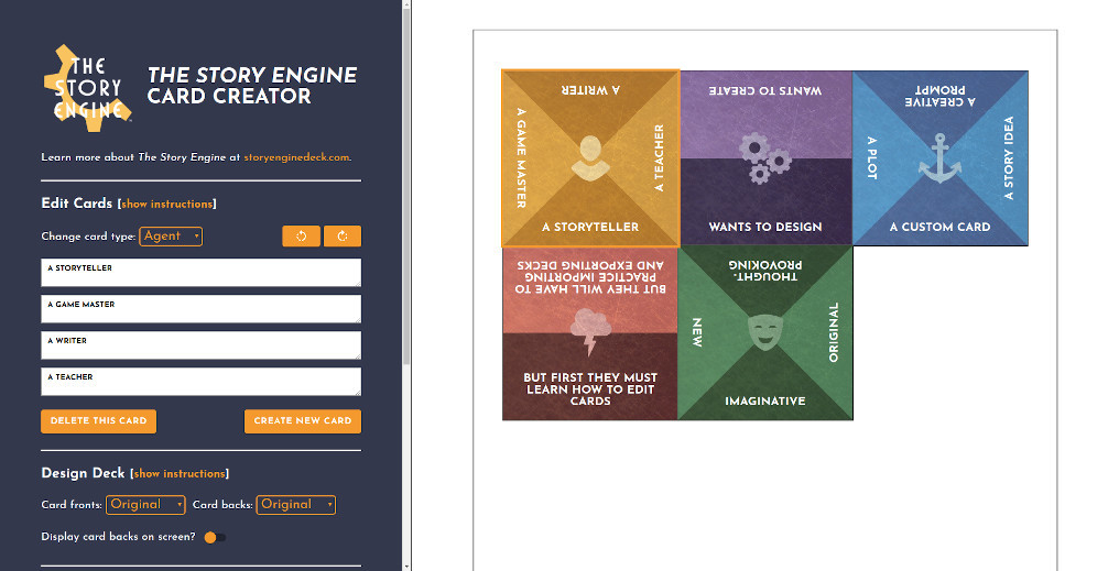 The Story Engine Card Creator